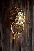 Detail of front door knocker