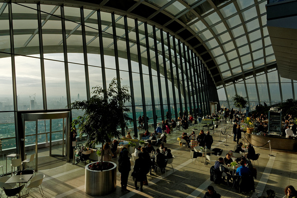 Restaurant at the top of 20 Fenchurch Street