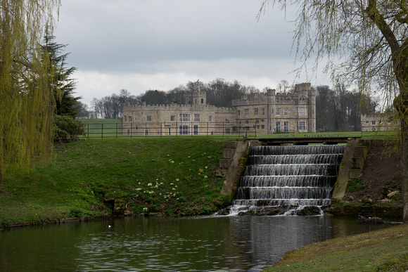 Leeds Castle on a gloomy March day