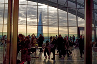 Just before leaving with the Shard behind the resturant